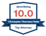 Avvo 10.0 Rating for Christopher C. Vader